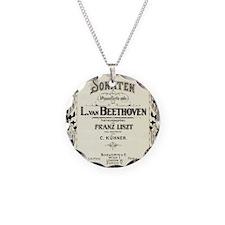 Beethoven Sonata Necklace Circle Charm