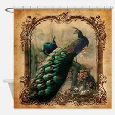 romantic paris vintage peacock Shower Curtain