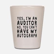 Auditor Autograph Shot Glass
