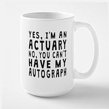 Actuary Autograph Mugs
