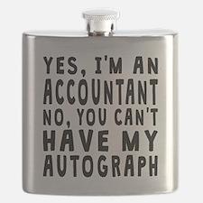 Accountant Autograph Flask