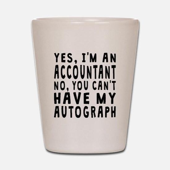 Accountant Autograph Shot Glass