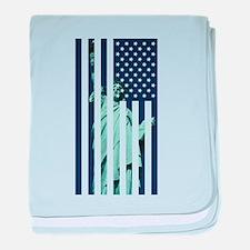 Liberty Flag baby blanket