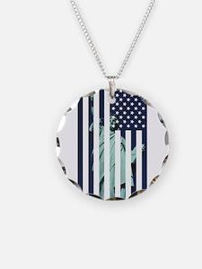 Liberty Flag Necklace