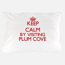 Keep calm by visiting Plum Cove Massac Pillow Case