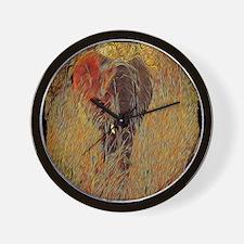 wildlife art african elephant Wall Clock