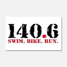 140.6 Swim Bike Run Car Magnet 20 x 12