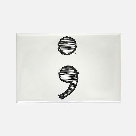 Semi Colon (Handdrawn) Magnets