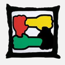 Equal Race Throw Pillow