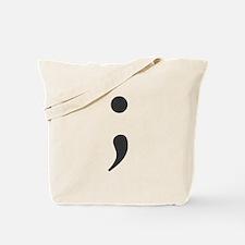 Semi Colon Tote Bag