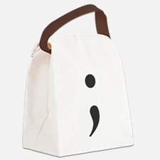 Semi Colon Canvas Lunch Bag