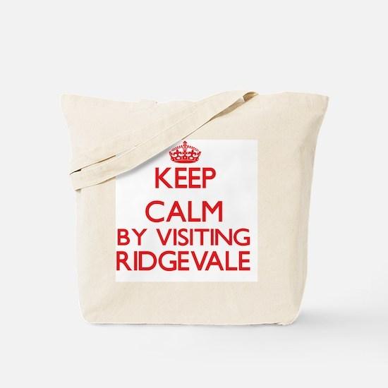 Keep calm by visiting Ridgevale Massachus Tote Bag