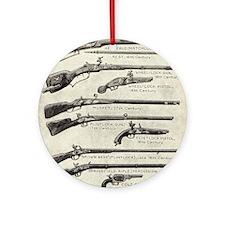 Vintage Guns Round Ornament