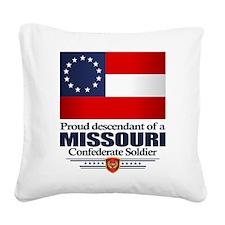 Missouri Proud Descendant Square Canvas Pillow