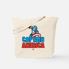Captain America Pixel Tote Bag