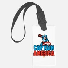 Captain America Pixel Luggage Tag