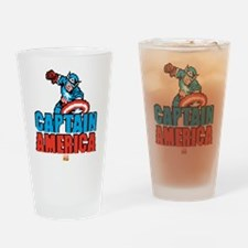 Captain America Pixel Drinking Glass