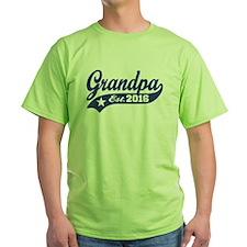 Grandpa Est. 2016 T-Shirt