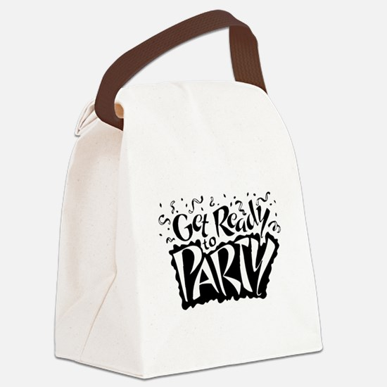 Get Ready To Party Canvas Lunch Bag