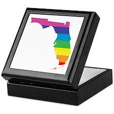 florida rainbow Keepsake Box