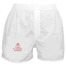Keep calm by visiting Whales Massachu Boxer Shorts