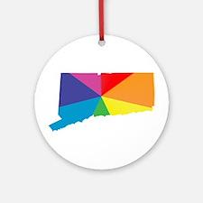connecticut rainbow Ornament (Round)