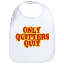 ONLY QUITTERS QUIT - Red logo Bib