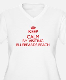 Keep calm by visiting Bluebeards Plus Size T-Shirt