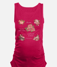 A Rose By Any Other Name Maternity Tank Top