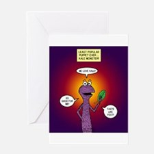 Kale Monster Greeting Card