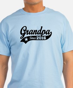 Grandpa Since 2016 T-Shirt