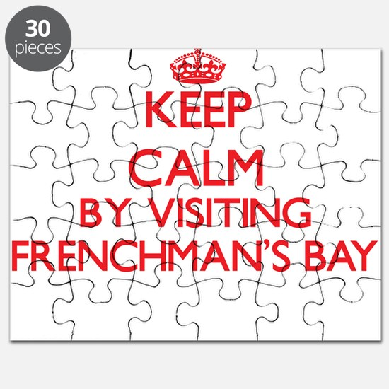Keep calm by visiting Frenchman'S Bay Virgi Puzzle