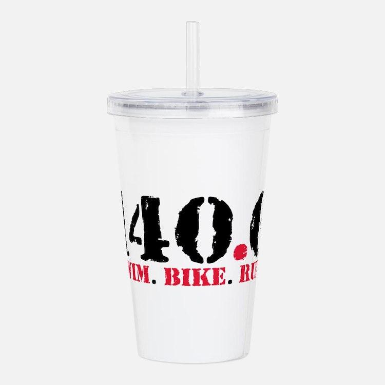 140.6 Swim Bike Run Acrylic Double-wall Tumbler