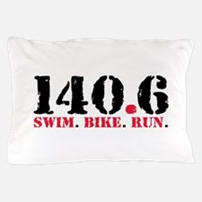 140.6 Swim Bike Run Pillow Case