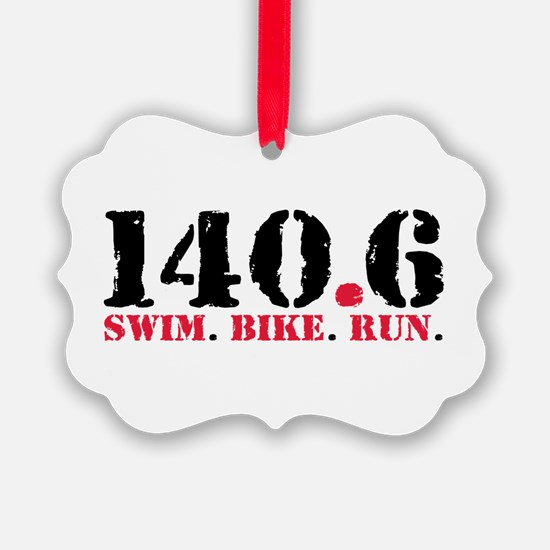 140.6 Swim Bike Run Ornament