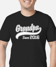 Grandpa Since 2016 Men's Fitted T-Shirt (dark)