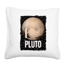 I Cardiac Pluto Square Canvas Pillow