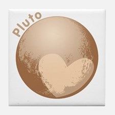 Cute Pluto Heart Tile Coaster