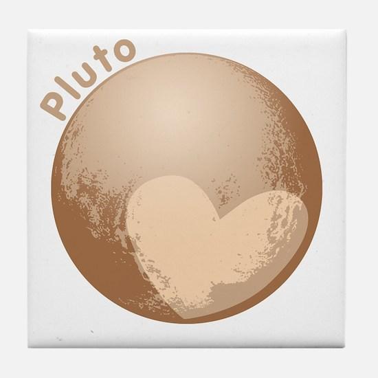 Cute Pluto Heart Tile Coaster