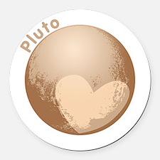 Cute Pluto Heart Round Car Magnet