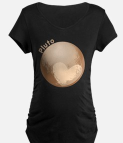 Cute Pluto Heart Maternity T-Shirt