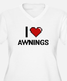 I Love Awnings Digitial Design Plus Size T-Shirt