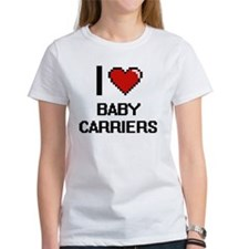 I Love Baby Carriers Digitial Design T-Shirt