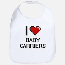 I Love Baby Carriers Digitial Design Bib