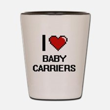 I Love Baby Carriers Digitial Design Shot Glass