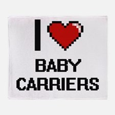 I Love Baby Carriers Digitial Design Throw Blanket