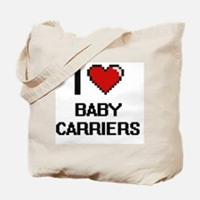 I Love Baby Carriers Digitial Design Tote Bag