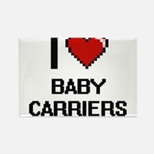 I Love Baby Carriers Digitial Design Magnets