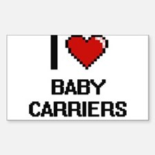 I Love Baby Carriers Digitial Design Decal
