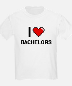 I Love Bachelors Digitial Design T-Shirt